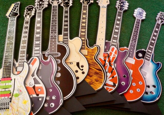 assorted guitars