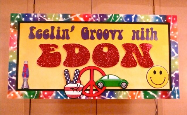 sixties theme groovy sign