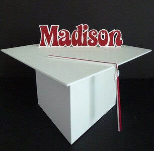 graduation hat with name