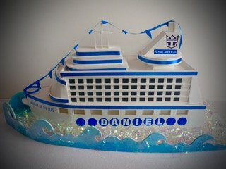 3D cruise ship gift card box