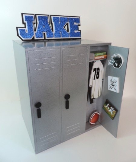 sports locker for gift card box for Jake