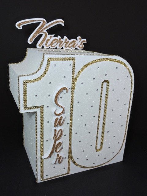 10th birthday party gift card box