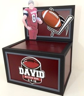 Football logo gift card box