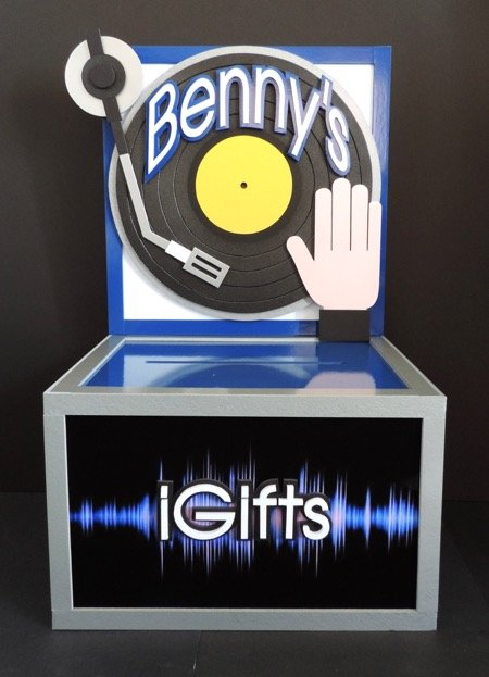 DJ Music iGifts gift card money box