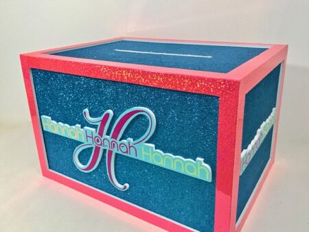 glitzy glittery one level box for Hannah